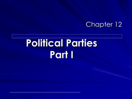 pearson chap 12 political parties part I