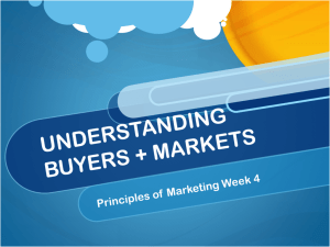 understanding buyers + markets