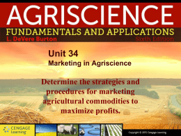 Unit 34 Marketing in Agriscience