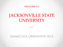 GO! Advisement Presentation - Jacksonville State University