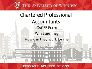 CACEE Forms - University of Winnipeg