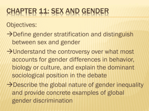 Chapter 11: sex and Gender - Mrs. Lewis's Sociology Wiki