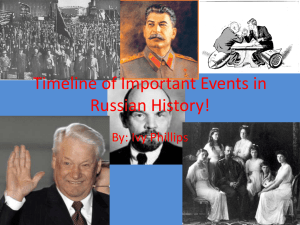 Timeline of Important Events in Russian History!