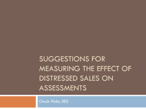 Suggestions for measuring the effect of distressed sales on