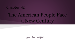 The American People Face a New Century - apush