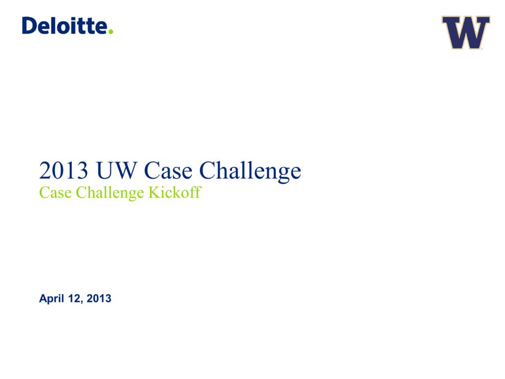 Deloitte Consulting Johnson Case Competition