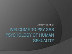 psy 383 Psychology of Human Sexuality