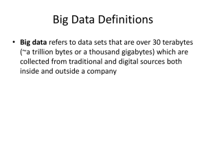 Big Data - Notes for 4 Life 2.0