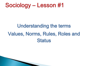Sociology * Lesson #1