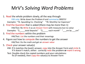 MrV's Way to do Word Probs