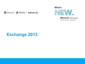 Exchange 2013 - Thank you from NetCom!