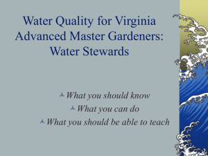 Water Quality for Virginia Master Gardeners