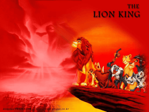 The Lion King - Mr. Davis' English