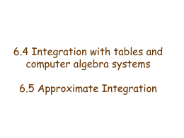 6.4 Integration with tables and computer algebra systems