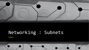 Introduction to Subnets Presentation
