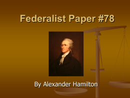Federalist #78 PPT
