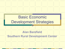 Basic Economic Development Strategies