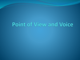 Point of View and Voice pp