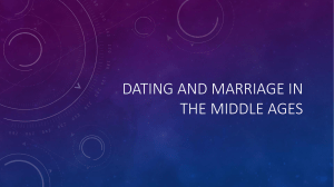 Dating and Marriage in the Middle Ages