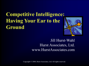 Competitive Intelligence: A Sword For That War