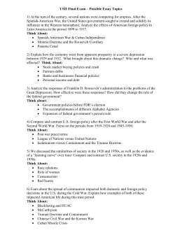cold war unit test study guide usii final exam possible essay topics 1 at the turn of the century