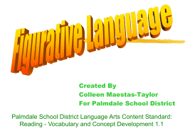 Figurative Language - Palmdale School District