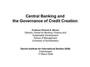 speculative credit creation