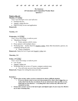 Kamrass English 10 Weekly Sheet