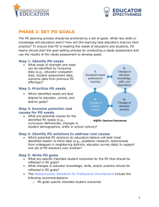 PD Cycle Phase 1 - Massachusetts Department of Education