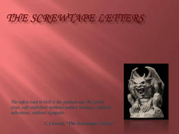 screwtape letters chapter 20 summary