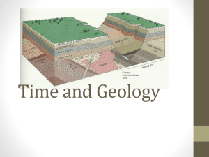 5.2 Time and Geology
