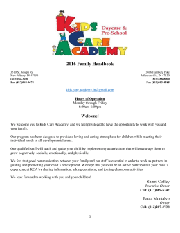 Kids Care Academy Parent Handbook