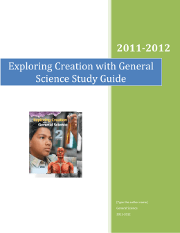 Exploring Creation with General Science Study Guide