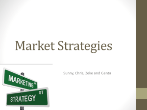 Market Strategies - aishscbusinessstudies