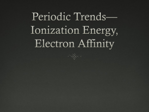 Periodic Trends–Ionization Energy and Electron Affinity–AP