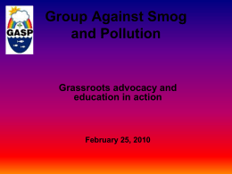 Group Against Smog and Pollution, Inc.