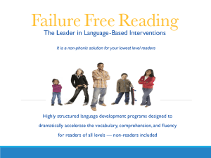 Failure Free Reading Overview PPT
