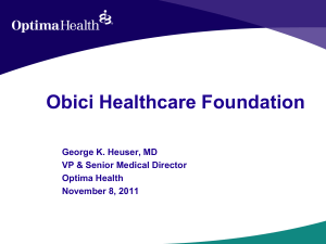 Optima Health - Obici Healthcare Foundation