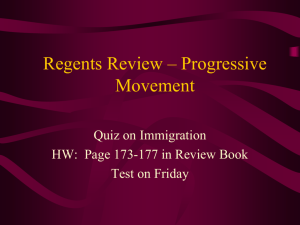Regents Review – Progressive Movement