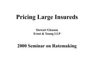 Pricing Large Insureds