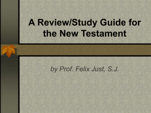 A Review/Study Guide for the New Testament