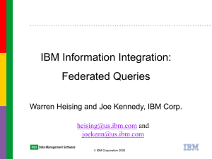 DB2 to Informix