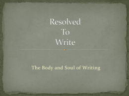 the body and soul of writing
