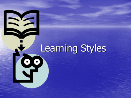 Learning Styles - World of Inclusion