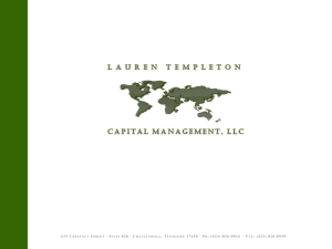 Lauren Templeton Capital Management 10.16.13