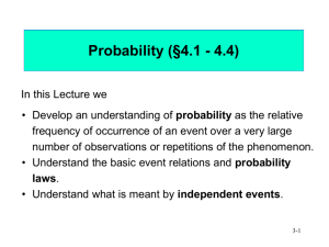 U1.3-Probability - Department of Mathematics & Statistics