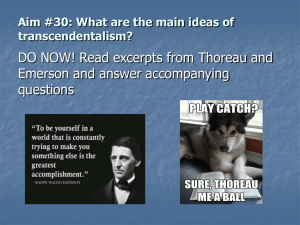 Aim #30: What were the major beliefs of the transcendentalists?