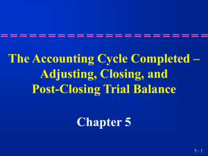 The Accounting Cycle Completed – Adjusting, Closing, and Post