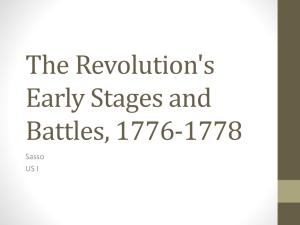 The Revolution's Early Stages and Battles