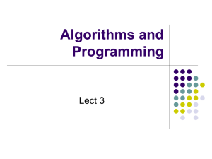 Algorithms and Progr.. - Computer and Information Science